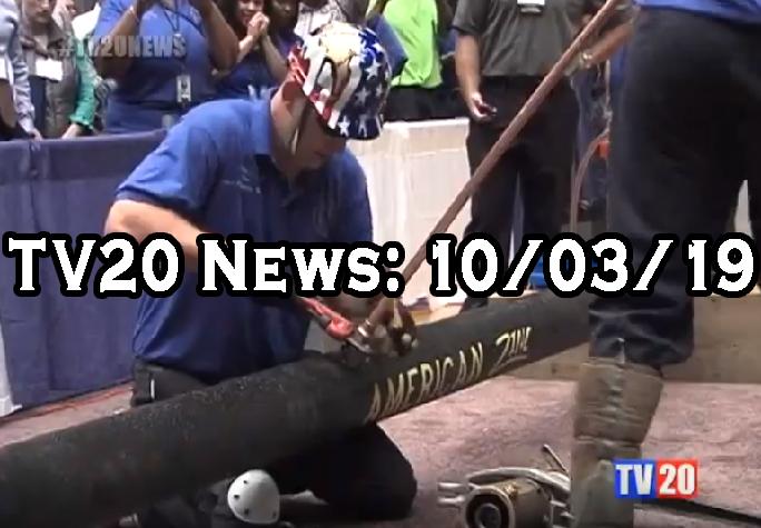 TV20 News 10/03/19 on men working