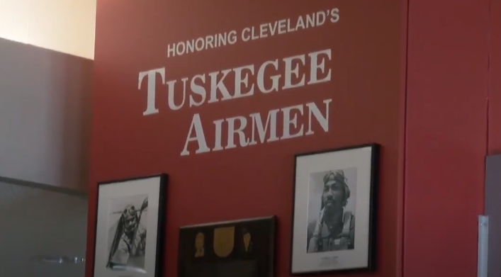 A still from provided video of the memorial display